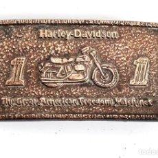 Vintage: HEBILLA METÁLICA PARA CINTURÓN. HARLEY DAVISON. Lote 201171730