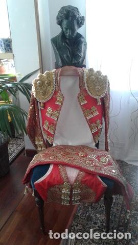Vintage: Traje de Luces Torero Vintage Años 80 Grana y Oro - Foto 2 - 201208422