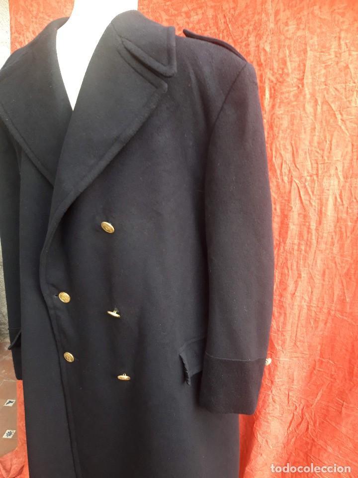 Vintage: Abrigo militar o de uniforme, hacia 1970 - Foto 2 - 201805696