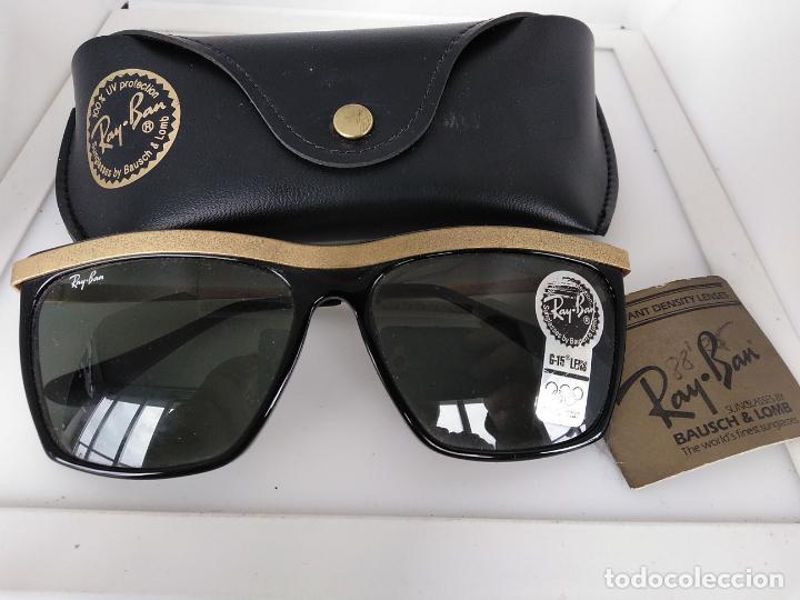 Vintage: Nuevo Ray Ban Olympics Series Lentes G15 en negro y dorado 1992 B & L USA 80s Gafas de sol - Foto 2 - 202665838