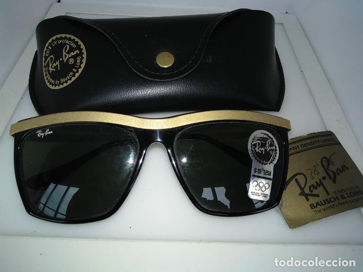 Vintage: Nuevo Ray Ban Olympics Series Lentes G15 en negro y dorado 1992 B & L USA 80s Gafas de sol - Foto 3 - 202665838