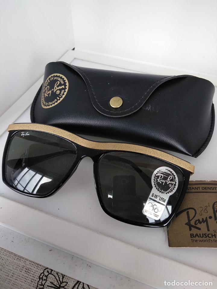 Vintage: Nuevo Ray Ban Olympics Series Lentes G15 en negro y dorado 1992 B & L USA 80s Gafas de sol - Foto 4 - 202665838
