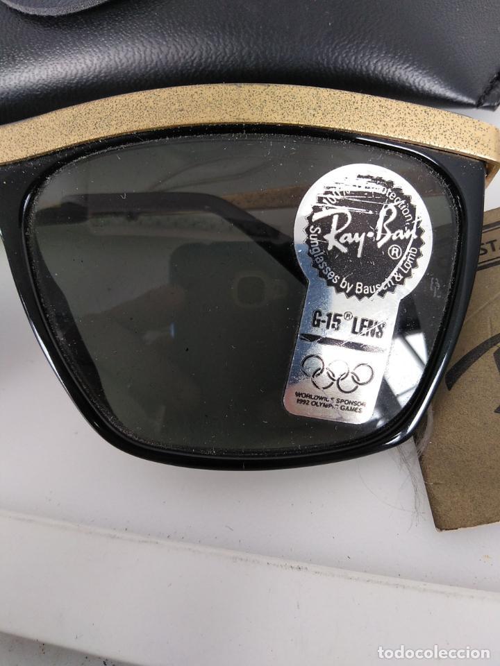 Vintage: Nuevo Ray Ban Olympics Series Lentes G15 en negro y dorado 1992 B & L USA 80s Gafas de sol - Foto 5 - 202665838