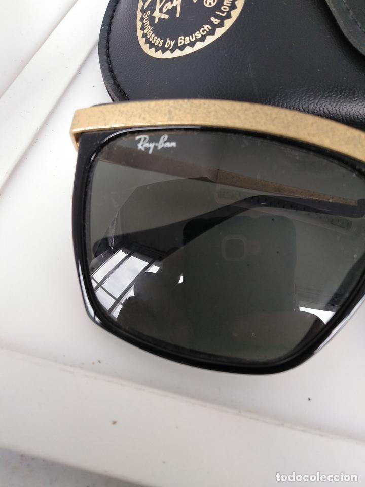 Vintage: Nuevo Ray Ban Olympics Series Lentes G15 en negro y dorado 1992 B & L USA 80s Gafas de sol - Foto 6 - 202665838