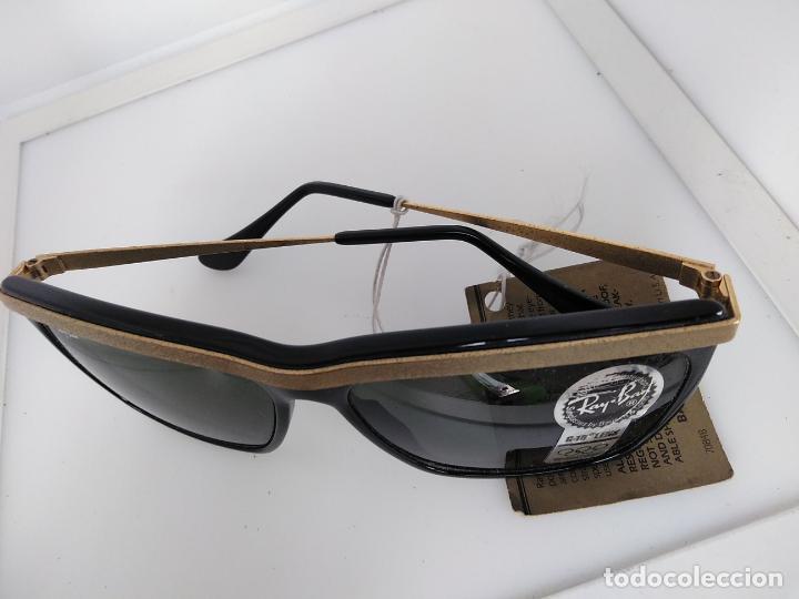 Vintage: Nuevo Ray Ban Olympics Series Lentes G15 en negro y dorado 1992 B & L USA 80s Gafas de sol - Foto 11 - 202665838