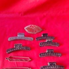 Vintage: LOTE DE 9 ANTIGUA PINZA DEL PELO DE LOS AÑOS 50. Lote 202891358