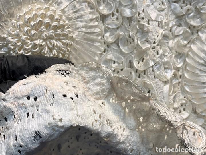 Vintage: camisa blusa gio canetti muy elaborada flores relieve crisantemos talla L italia italy años 60 65cms - Foto 5 - 202938106