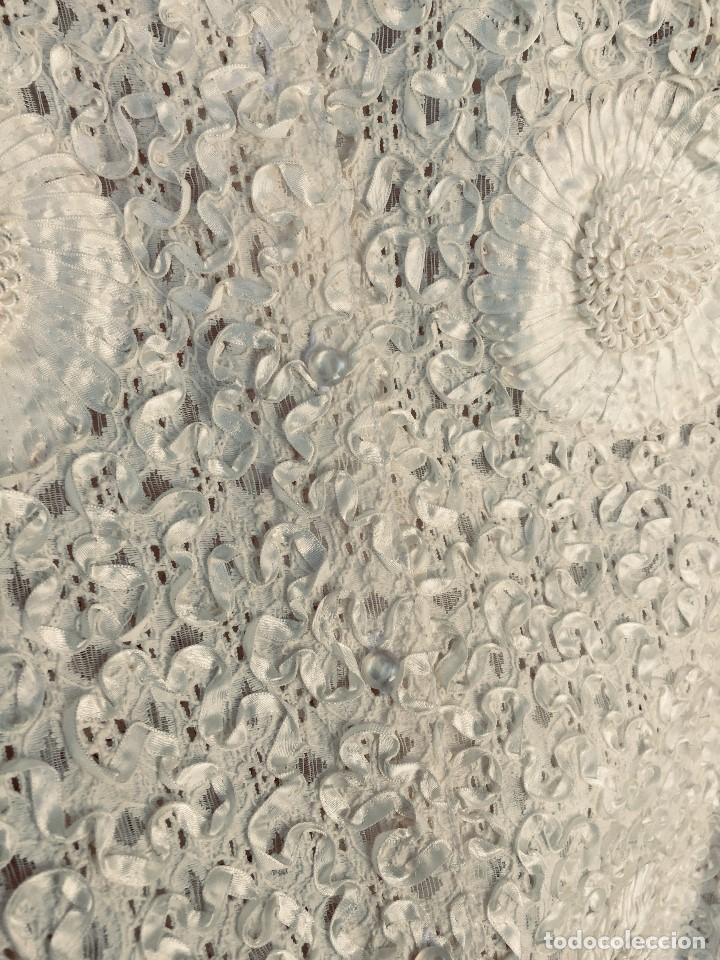 Vintage: camisa blusa gio canetti muy elaborada flores relieve crisantemos talla L italia italy años 60 65cms - Foto 16 - 202938106