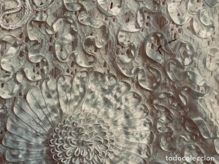 Vintage: camisa blusa gio canetti muy elaborada flores relieve crisantemos talla L italia italy años 60 65cms - Foto 20 - 202938106