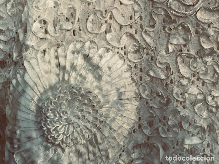 Vintage: camisa blusa gio canetti muy elaborada flores relieve crisantemos talla L italia italy años 60 65cms - Foto 21 - 202938106