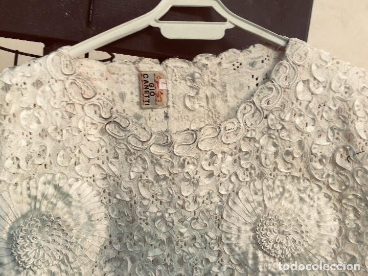 Vintage: camisa blusa gio canetti muy elaborada flores relieve crisantemos talla L italia italy años 60 65cms - Foto 22 - 202938106