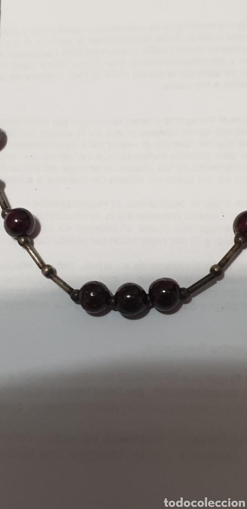 Vintage: Precioso collarcillo Art Deco de plata de ley 925:y amatistas - Foto 3 - 203854667