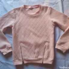 Vintage: SUDADERA HAPPY STAR NIÑA 12 AÑOS COLOR ROSA. Lote 204015150