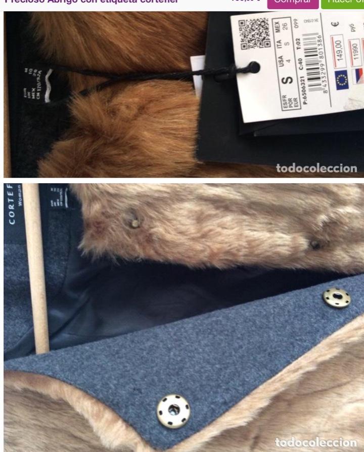 Vintage: Espectacular abrigo Cortefiel sin usar de pelo y paño con etiqueta - Foto 3 - 204252703