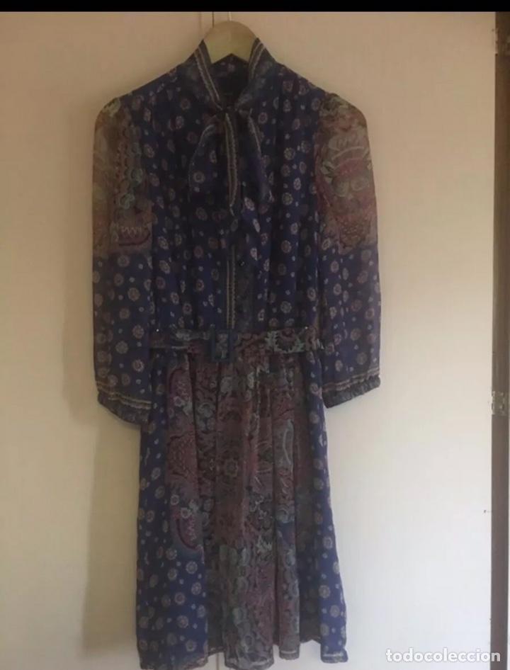 Vintage: Precioso vestido de seda talla M - Foto 2 - 204305183