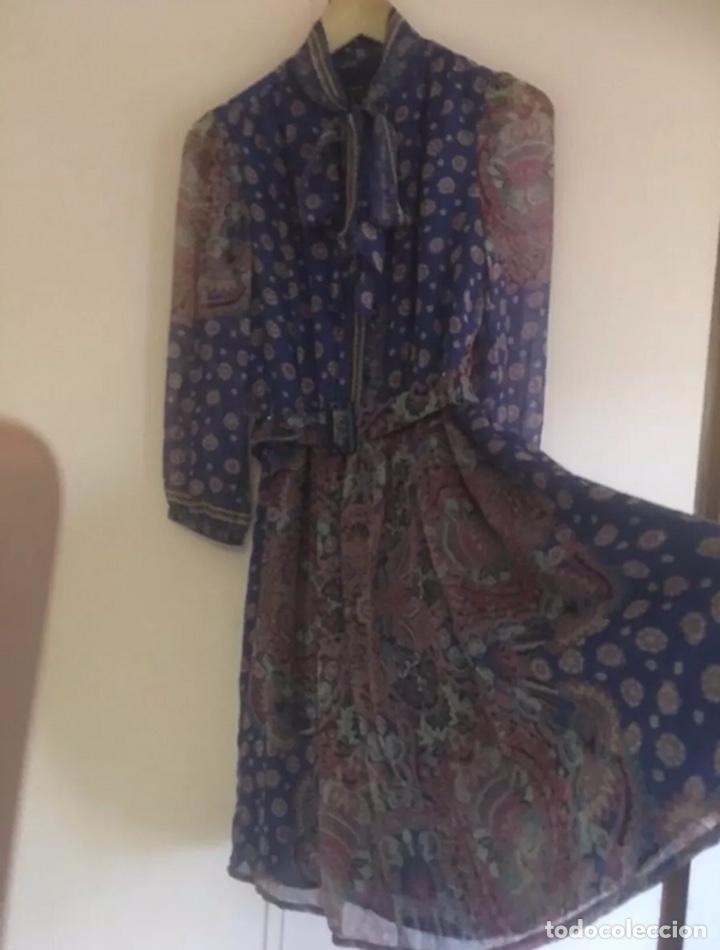Vintage: Precioso vestido de seda talla M - Foto 3 - 204305183