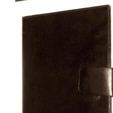 Vintage: CARTERA DE PIEL CON INICIALES EN PLATA (AV) PARA PASAPORTE Y CARNET DE CONDUCIR. Lote 204417846