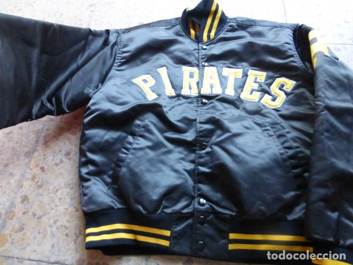 Vintage: ANTIGUA BOMBER CHAQUETA BÉISBOL ORIGINAL Pittsburgh Pirates - MAJOR LEAGUE BASEBALL - MADE IN U.S.A. - Foto 2 - 204453441
