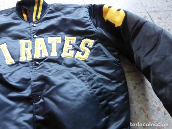 Vintage: ANTIGUA BOMBER CHAQUETA BÉISBOL ORIGINAL Pittsburgh Pirates - MAJOR LEAGUE BASEBALL - MADE IN U.S.A. - Foto 4 - 204453441