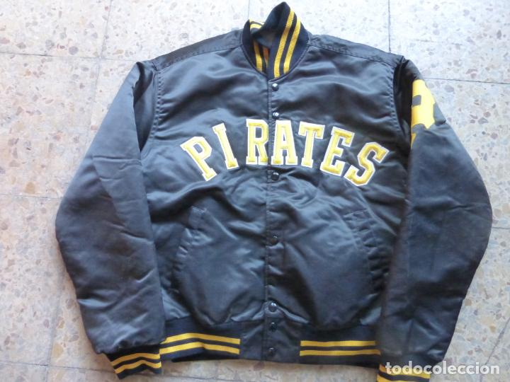 ANTIGUA BOMBER CHAQUETA BÉISBOL ORIGINAL PITTSBURGH PIRATES - MAJOR LEAGUE BASEBALL - MADE IN U.S.A. (Vintage - Moda - Hombre)