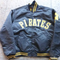 Vintage: ANTIGUA BOMBER CHAQUETA BÉISBOL ORIGINAL PITTSBURGH PIRATES - MAJOR LEAGUE BASEBALL - MADE IN U.S.A.. Lote 204453441