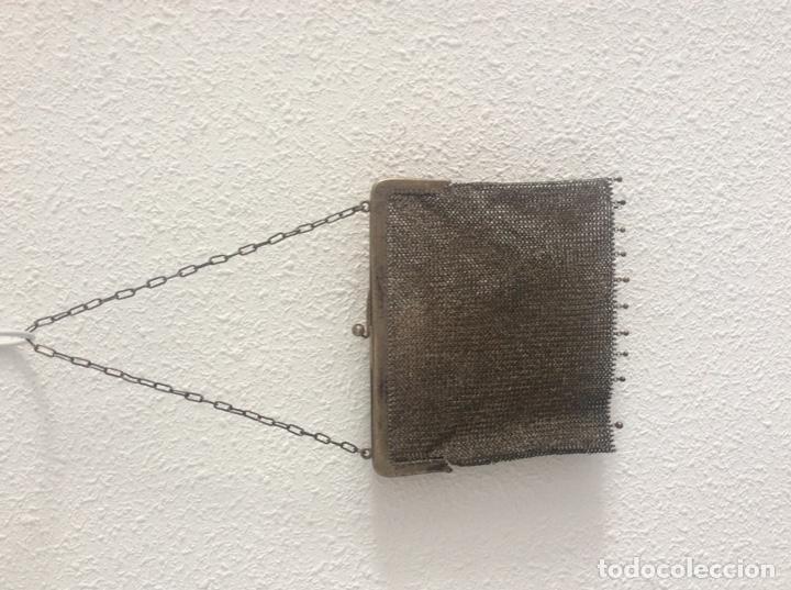 Vintage: Espectacular bolso plata de ley le falta bolita boquilla - Foto 2 - 204532516