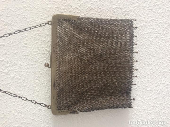 Vintage: Espectacular bolso plata de ley le falta bolita boquilla - Foto 3 - 204532516
