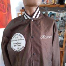Vintage: CHAQUETA DEPORTIVA SATIN JACKET. COLOR CHOCOLATE. Lote 204647485