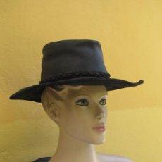 Vintage: AUTÉNTICO SOMBRERO DE PIEL AUSTRALIAN LEADING LEATHER HAT. Lote 205444650