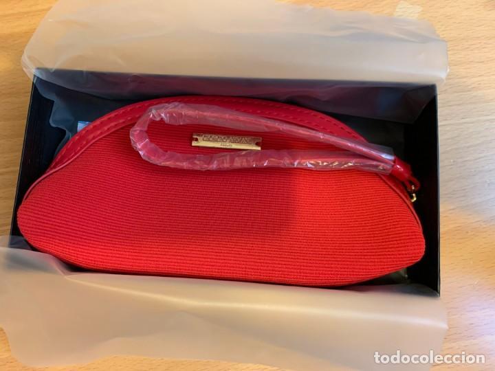 Vintage: Pequeño neceser de Giorgio Armani color rojo - Foto 2 - 205739251