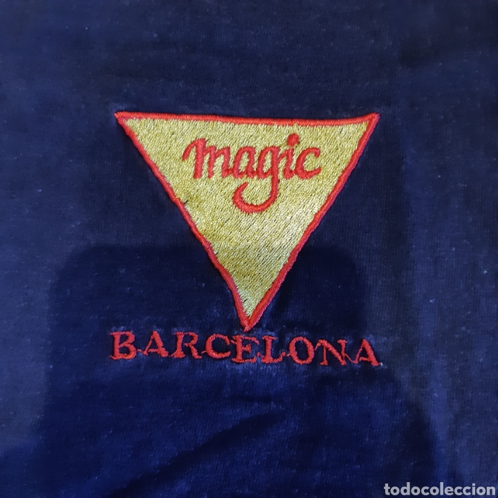 CAMISETA BORDADA TALLA XL MAGIC BARCELONA ROCK AND ROLL CLUB (Vintage - Moda - Hombre)