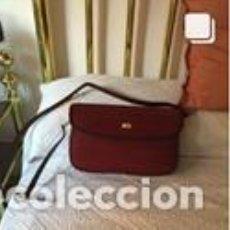 Vintage: BOLSO VINTAGE COMPLETAMENTE NUEVO A ESTRENAR DE NOBUK Y BOXCALF COLOR CORINTO. Lote 206141313