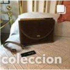 Vintage: BOLSO VINTAGE COMPLETAMENTE NUEVO A ESTRENAR DE NOBUK Y BOXCALF COLOR MARRÓN. Lote 206141323