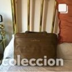 Vintage: BOLSO VINTAGE COMPLETAMENTE NUEVO A ESTRENAR DE BOXCALF COLOR CAQUI. Lote 206141328