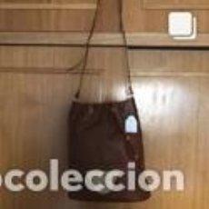 Vintage: BOLSO VINTAGE COMPLETAMENTE NUEVO A ESTRENAR DE BOXCALF COLOR MARRÓN. Lote 206141343