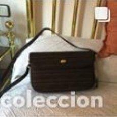 Vintage: BOLSO VINTAGE COMPLETAMENTE NUEVO A ESTRENAR DE NOBUK Y BOXCALF COLOR MARRÓN. Lote 206141348