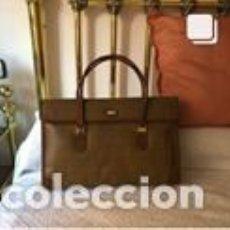Vintage: BOLSO VINTAGE COMPLETAMENTE NUEVO A ESTRENAR DE BOXCALF COLOR CAQUI. Lote 206141353