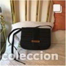 Vintage: BOLSO VINTAGE COMPLETAMENTE NUEVO A ESTRENAR DE NOBUK Y BOXCALF COLOR NEGRO. Lote 206141363