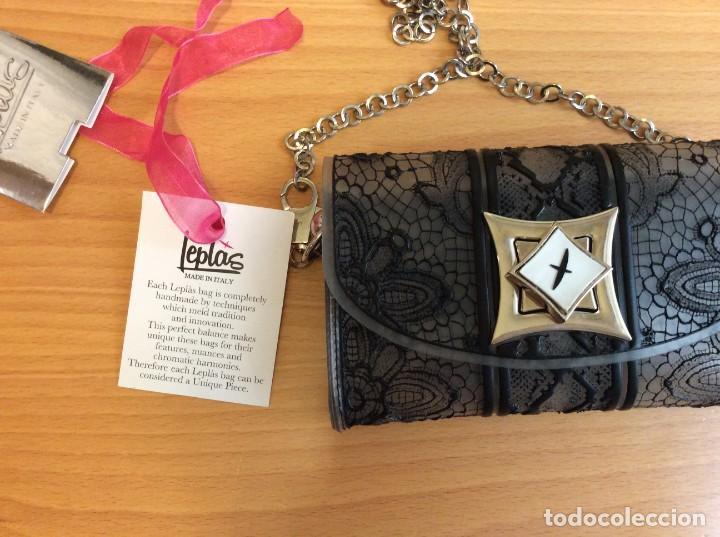 Vintage: Maravilloso bolso bolsito italiano marca Leplás, con certificado de autenticidad y calidad - Foto 7 - 206205770