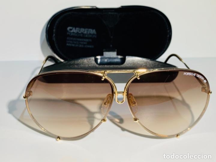 Gafas Carrera Porsche Design 5621. Gold Plated. Brown. Box. Mid.'80s. Genuine vintage. Sungls. Mint. segunda mano