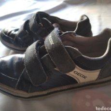 Vintage: ZAPATOS SPORT GEOX PIEL TALLA 36 AZUL MARINO. Lote 206248331