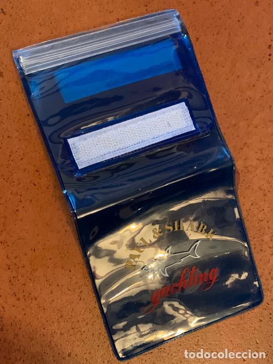 Vintage: Curioso portadocumentos o billetero nautico, cierre zip, marca Paul & Shark. Impecable - Foto 3 - 206377476