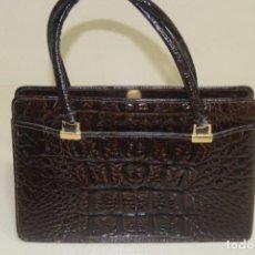 Vintage: IMPECABLE BOLSO DE PIEL DE COCODRILO. Lote 206519107