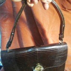 Vintage: BOLSO DE PIEL DE LAGARTO. Lote 207068028