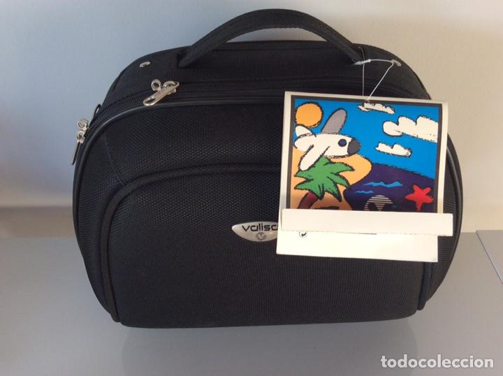 Vintage: MALETA NECESER BOLSO DE VIAJE NEGRO DE LA MARCA BALISA NUEVA CON ETIQUETAS - Foto 2 - 207070408