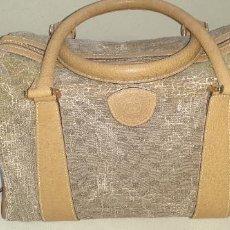 Vintage: BOLSO DE LONA Y PIEL DE GUCCI. Lote 207132860