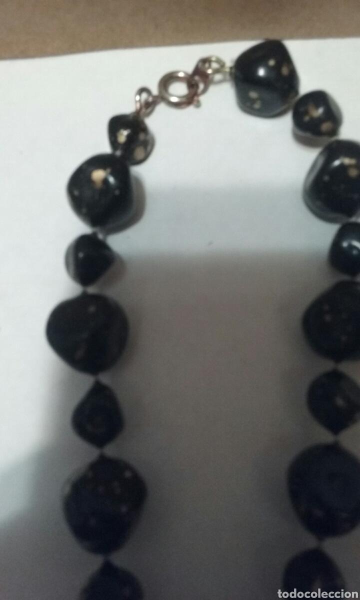 Vintage: Bonito.collar largo.negro.con dorado.vintage - Foto 3 - 207672207