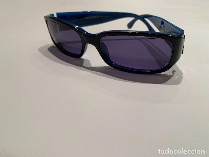 Vintage: Gafas de sol firma EMPORIO ARMANI, color azul. Made in Italy. Perfectas. - Foto 2 - 208391750