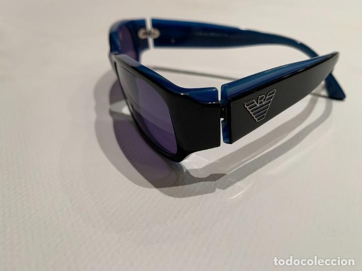 Vintage: Gafas de sol firma EMPORIO ARMANI, color azul. Made in Italy. Perfectas. - Foto 3 - 208391750