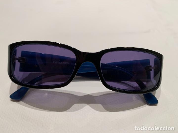 Vintage: Gafas de sol firma EMPORIO ARMANI, color azul. Made in Italy. Perfectas. - Foto 5 - 208391750